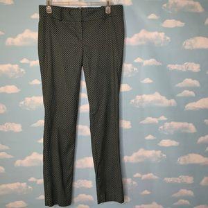 Ann Taylor- Black & Green Patterned Pants size 4